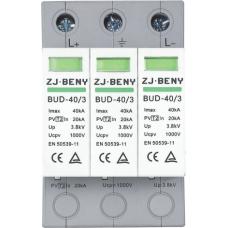 BENY PV DC SPD 40kA 1000V 3P Surge Protection