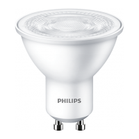 Philips EcoBright LED 230V Downlight GU10 Cool White 4.7W NON-DIMMABLE